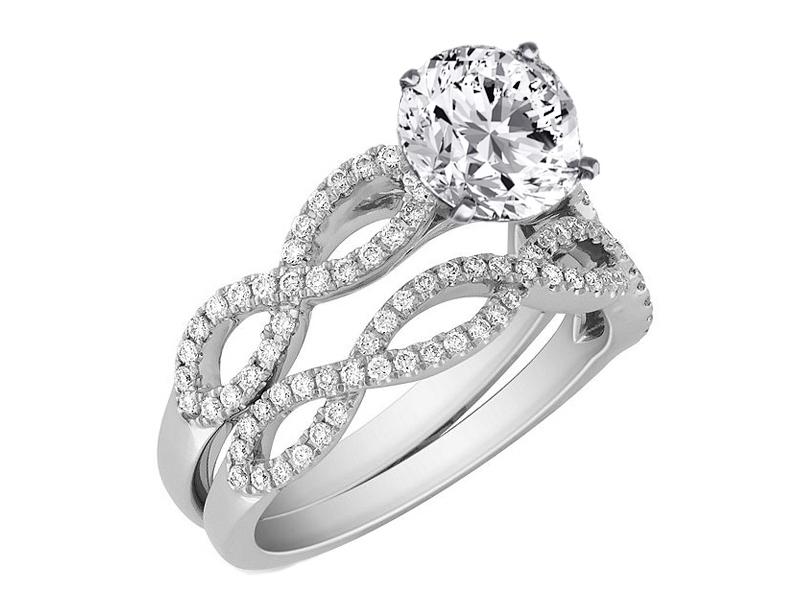 Engagement Ring -Infinity Bridal Set: Engagement Ring & Matching ...