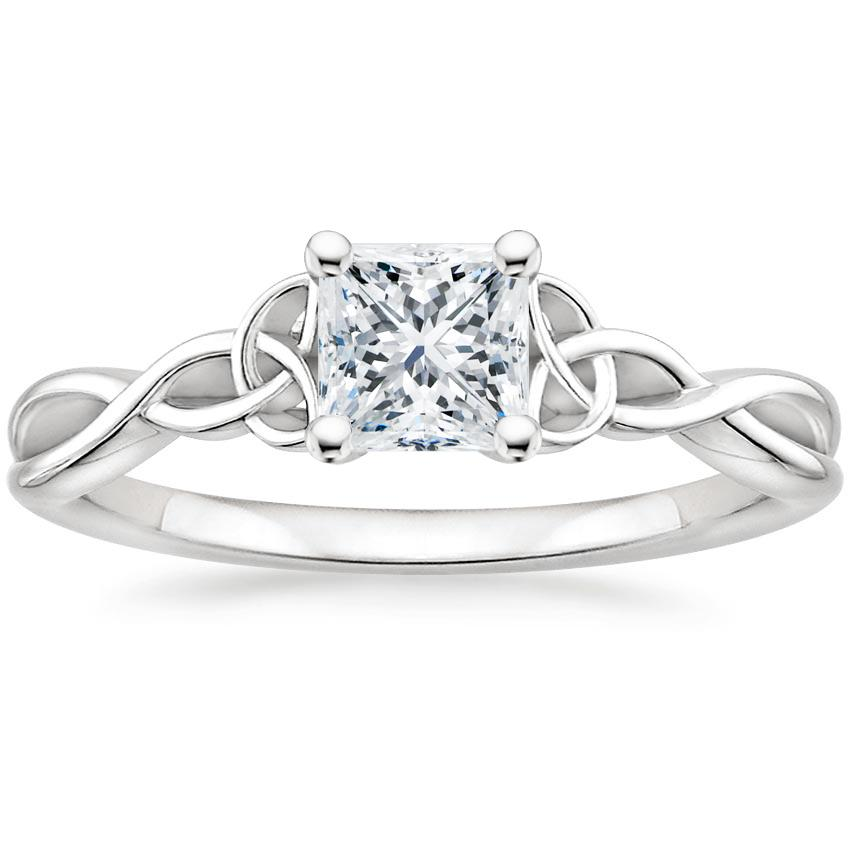 Intertwined Celtic Princess Solitaire Ring