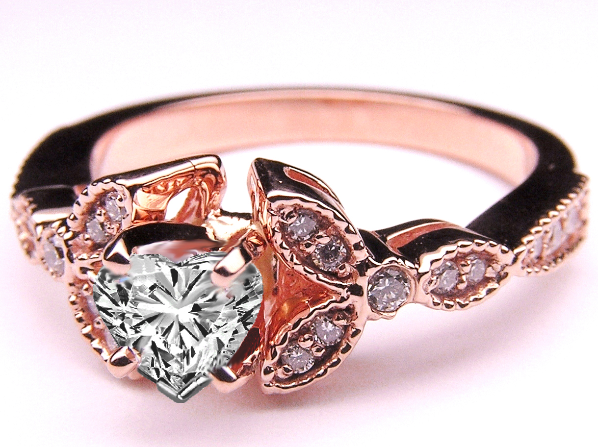 cut ring cheap engagement marquise rg solitaire vintage shaped nl rings jewelry profile pink diamond in tapered rose gold engraved