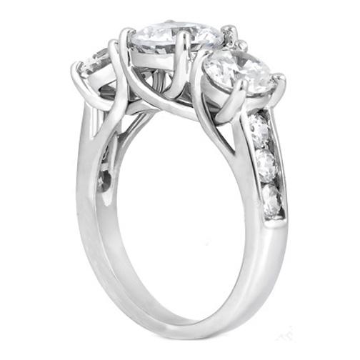 Engagement Ring Three Stone Trellis Diamond Engagement
