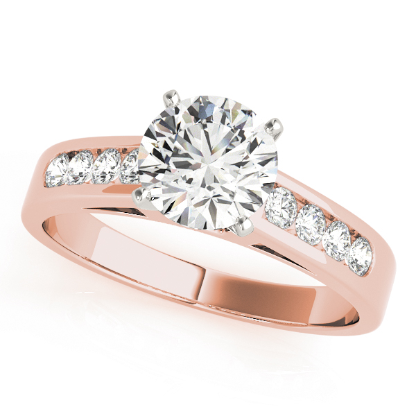 Classic Channel Diamond Bridal Set in Rose Gold