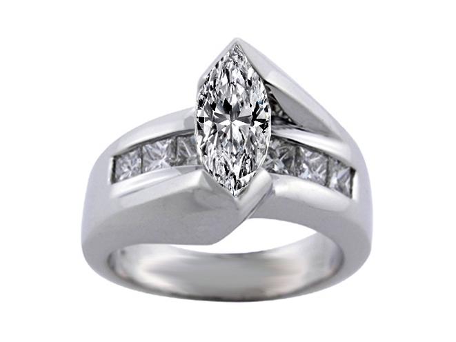 Engagement Ring Marquise Diamond Bridge Engagement Ring Setting