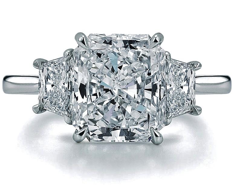 Engagement Ring Radiant Diamond Engagement Ring Setting