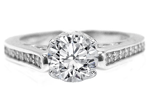 Edwardian Era Diamond Engagement Ring  0.28 tcw. in Platinum Gold
