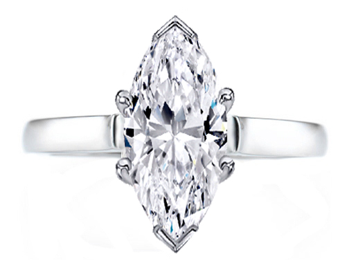 Marquise Diamond Solitaire Contour Engagement Ring