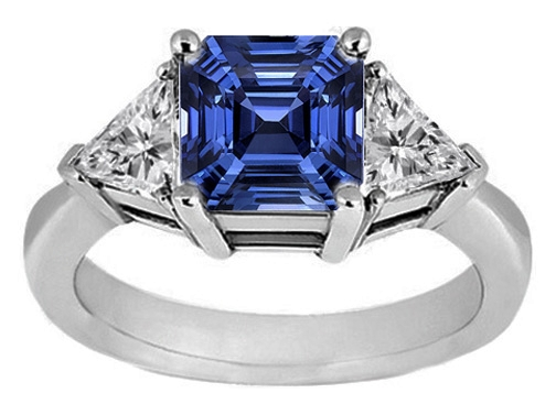 reviews testimonials gorgeous image description ring asscher natural my sapphire nsc small cut company customer setting antique blue the