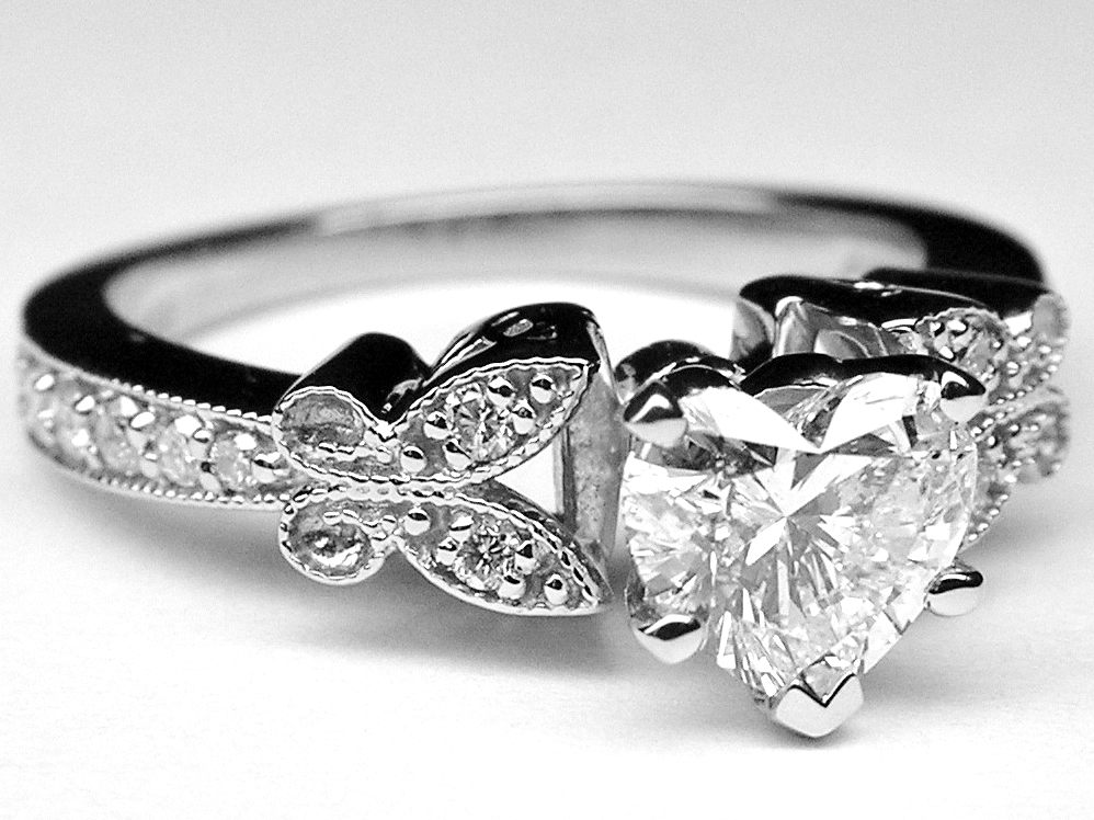 weddings rings butterfly elegant wedding