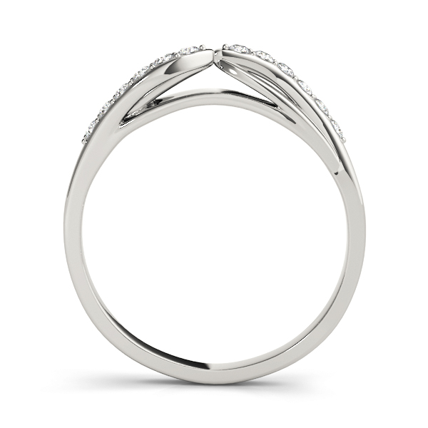 Swirl Diamond Matching Wedding Band