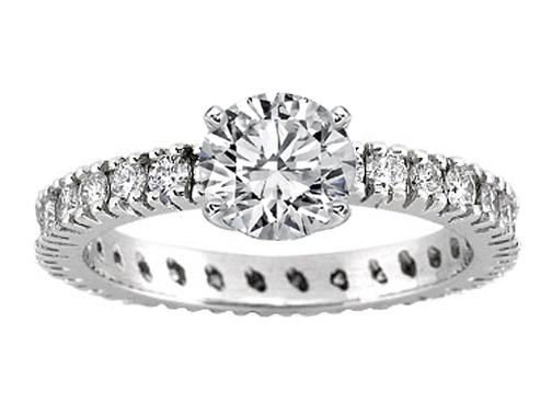 Diamond Eternity Engagement Ring 0.66 tcw. In Platinum