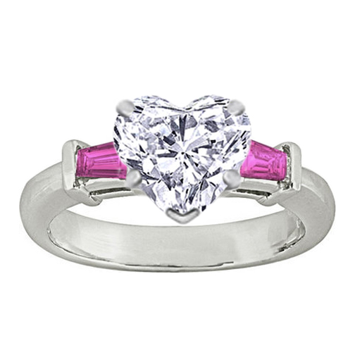 Wedding Rings With Pink
