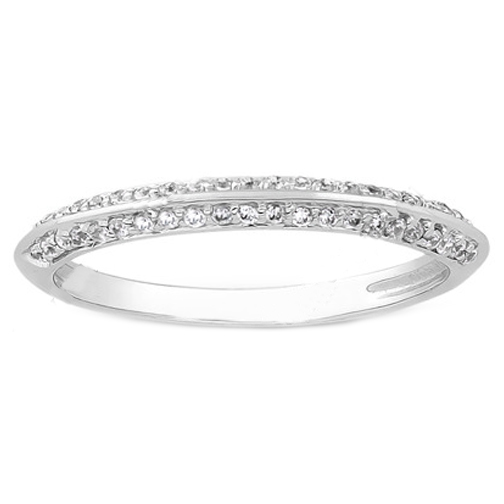 diamond pave ring wedding
