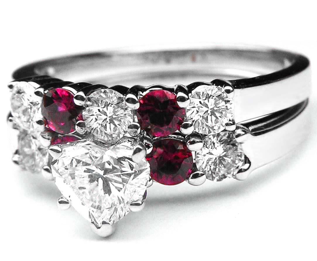 stones ruby gem accent diamond accents engagementdetails ring wedding cfm rings engagement matching heart