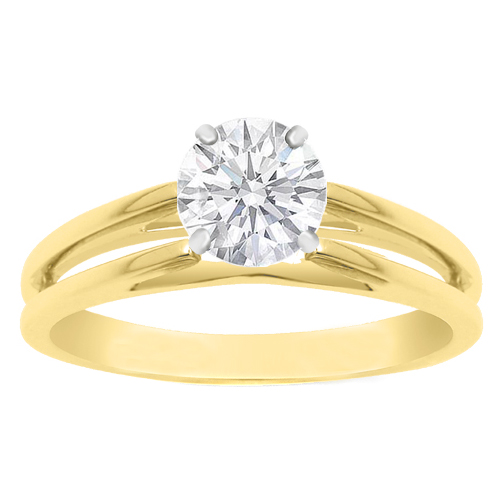 Engagement Ring Solitaire Cathedral Split Band Engagement Ring Setting 3 5MM
