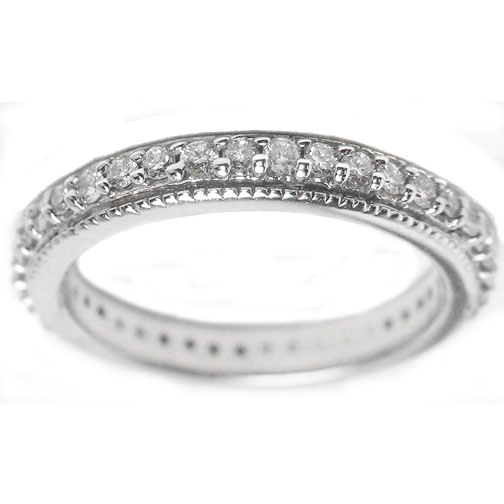 Round Diamond Bridal Set in 14K White Gold 1.1 tcw.