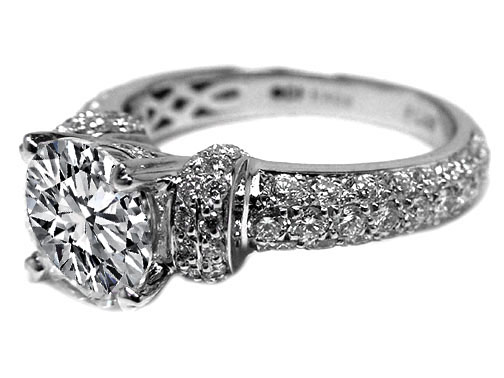 Engagement Ring Vintage Style Diamond Engagement Ring 1 17 tcw ES440