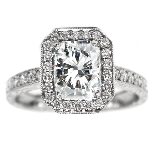 Image result for radiant cut diamond rings