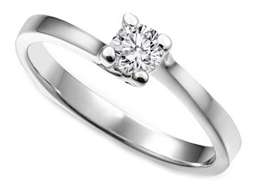 0.25 Carat Solitaire Swirl Engagement Ring