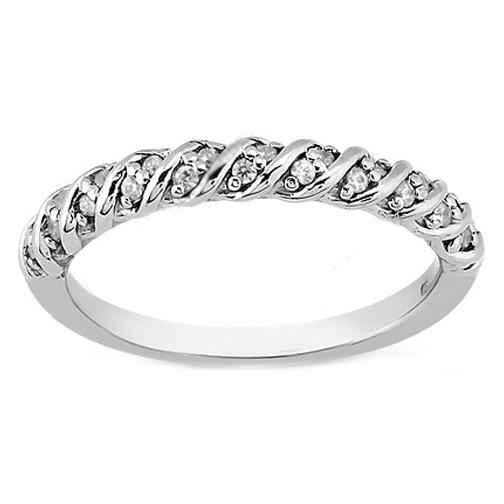 Wedding Band Round Diamond Petite Rope Wedding Ring 017 tcw