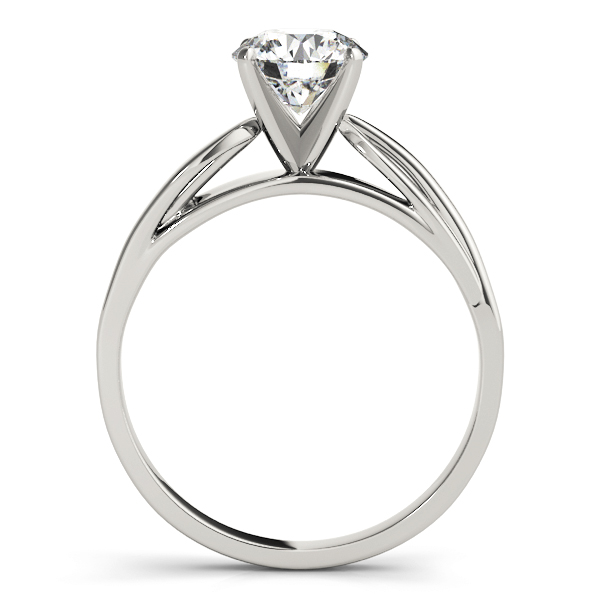 Solitaire Cathedral Diamond Leave Engagement Ring