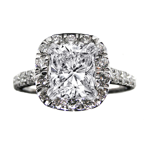Engagement Ring Vintage Style Diamond Halo Engagement Ring 0 68 tcw In 14K