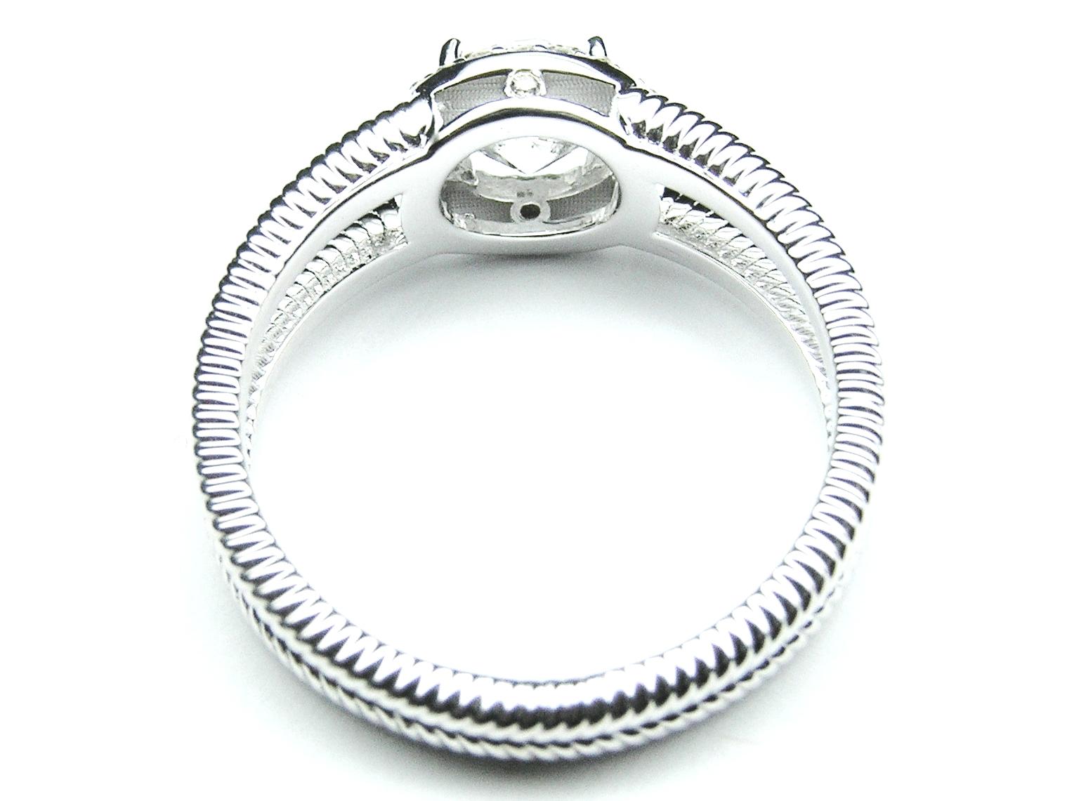 engagement ring halo engagement ring rope split