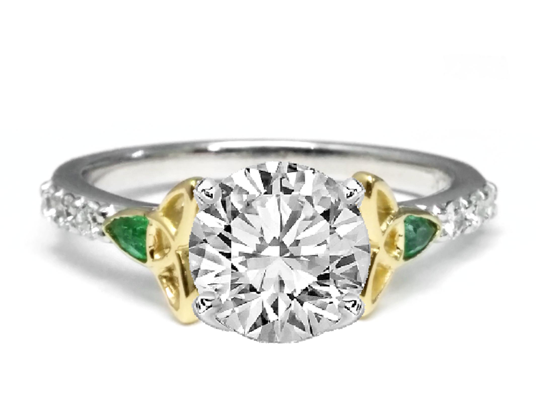 round yellow ctw ring gold rings engagement marquise baguette accent size property room l ct diamond