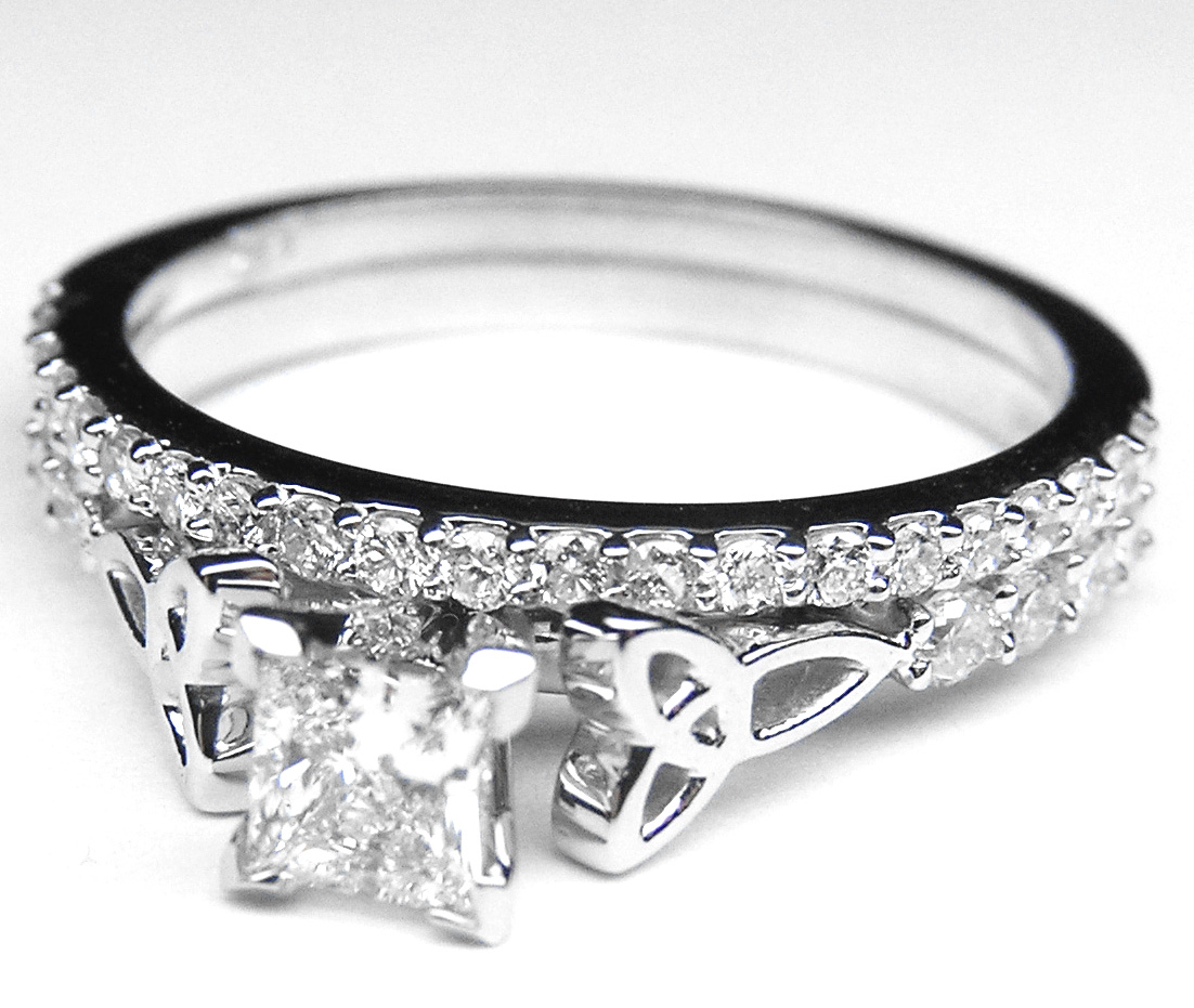 Engagement Ring -Princess Diamond Cut Celtic Knot ...