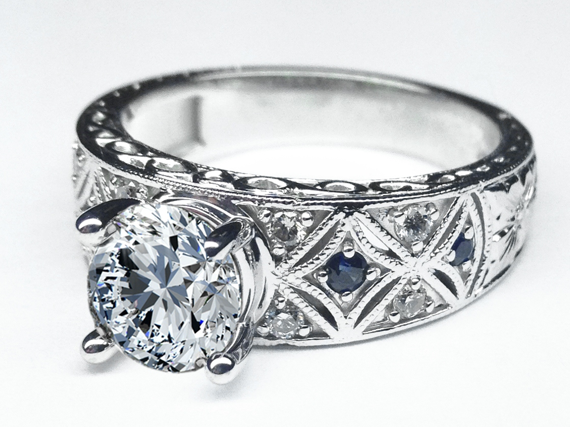 Antique Art Deco Diamond Engagement Ring