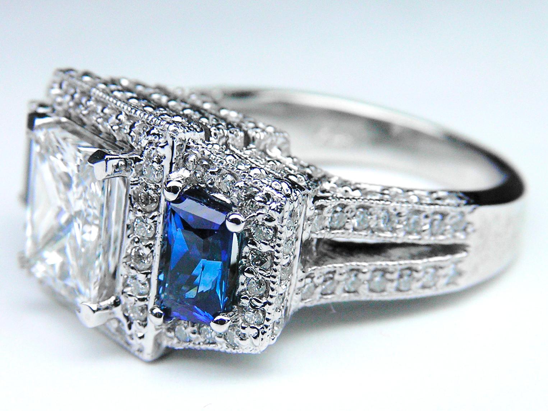 Engagement Ring Princess Diamond Engagement Ring Square