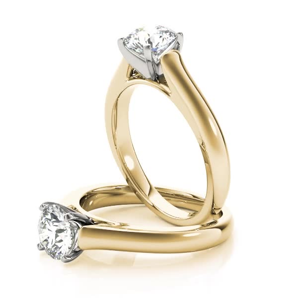 Classic Cathedral Engagement Ring Yellow Gold