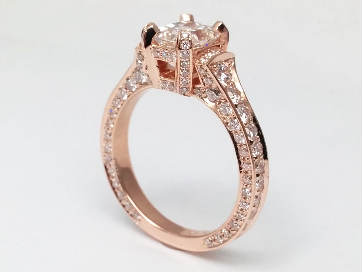 white prong ring engagement four brilliant cathedral enr eagle rings a round pave open in solitaire platinum gold