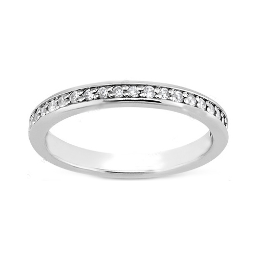 Petite Round Diamond Wedding Band
