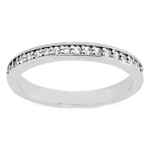 Round Diamond Petite Wedding Band 0.21