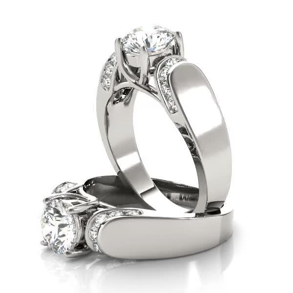 trellis diamond horseshoe engagement ring - Horseshoe Wedding Rings