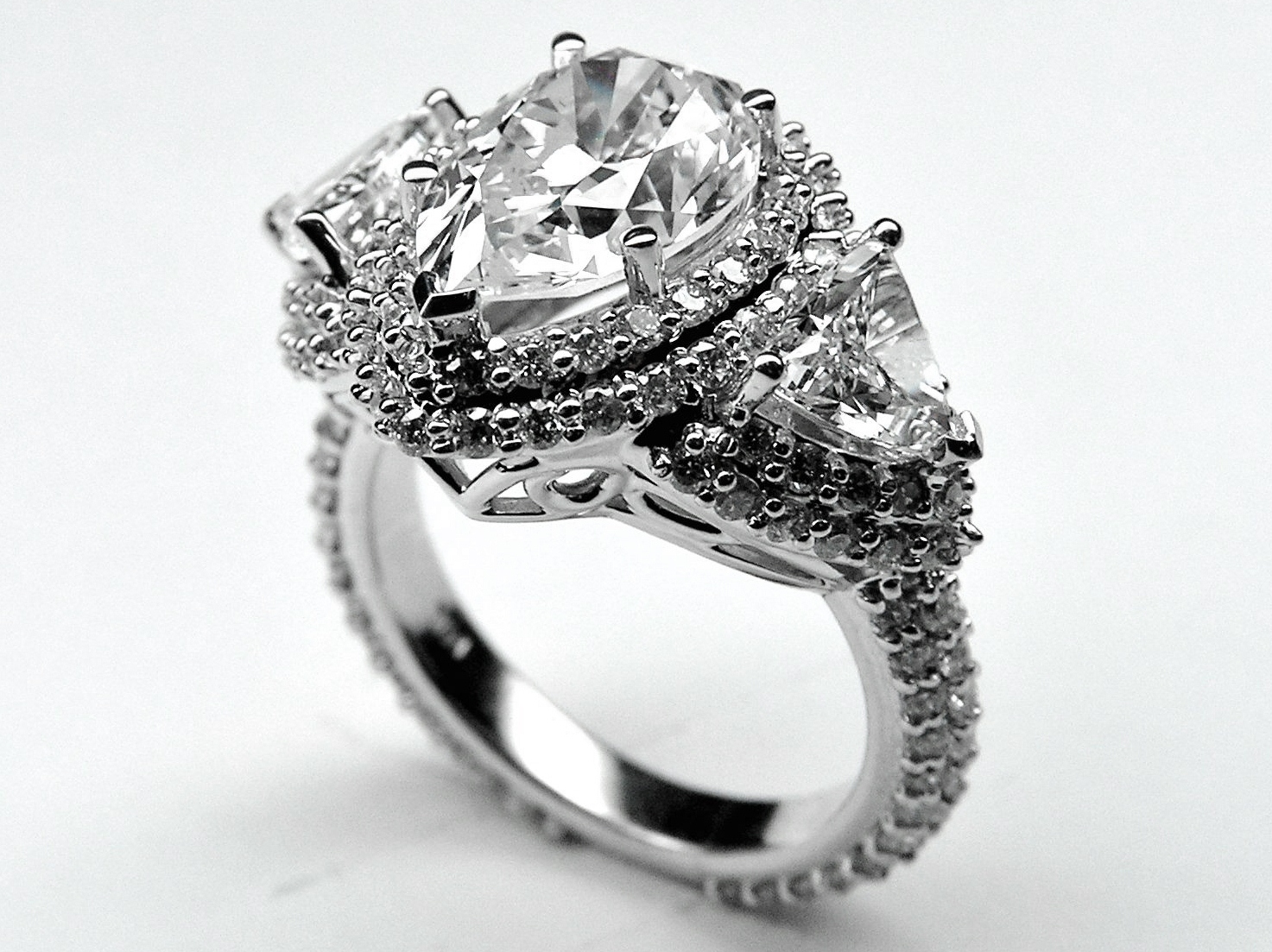 Engagement Ring Pear Shape Diamond Vintage Engagement