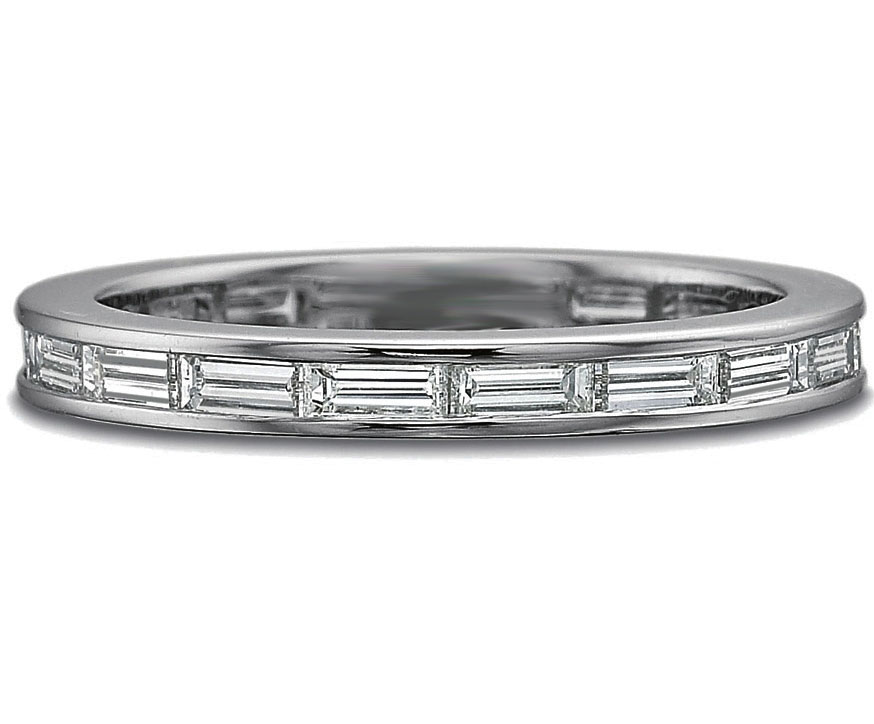 Wedding Band Horizontal Baguette Diamond Wedding Band 096 tcw In