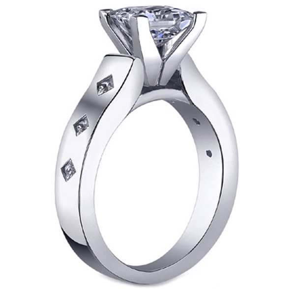 Starlight Princess Diamond Engagement Ring 0.18 tcw in 14K White Gold