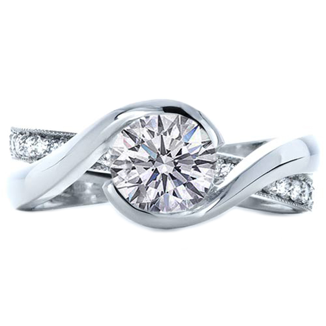 interlocking Engagement Rings from MDC Diamonds NYC