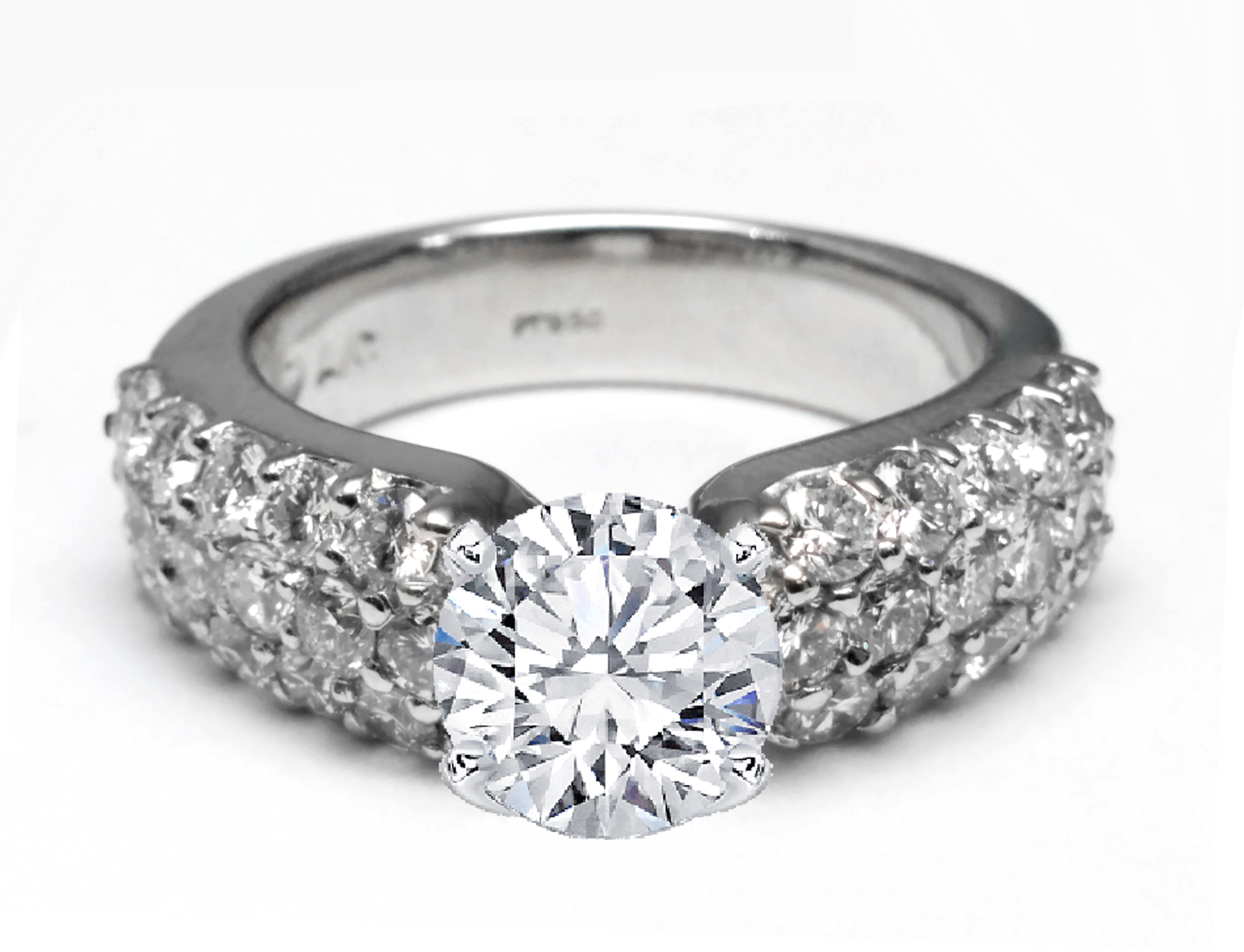 three engagement diamond band row platinum tcw ring micro mdc in engagementringsre pave diamonds nyc cfm rings from bands