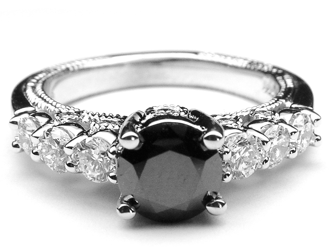 black diamond european engagement rings from mdc. Black Bedroom Furniture Sets. Home Design Ideas