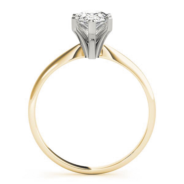 Classic Solitaire Pear Engagement Ring Yellow Gold
