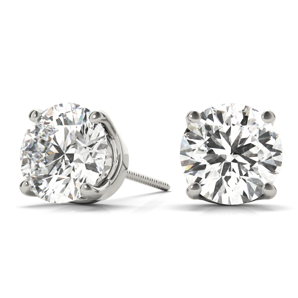Round Stud Earrings 1.0 Ct. Platinum