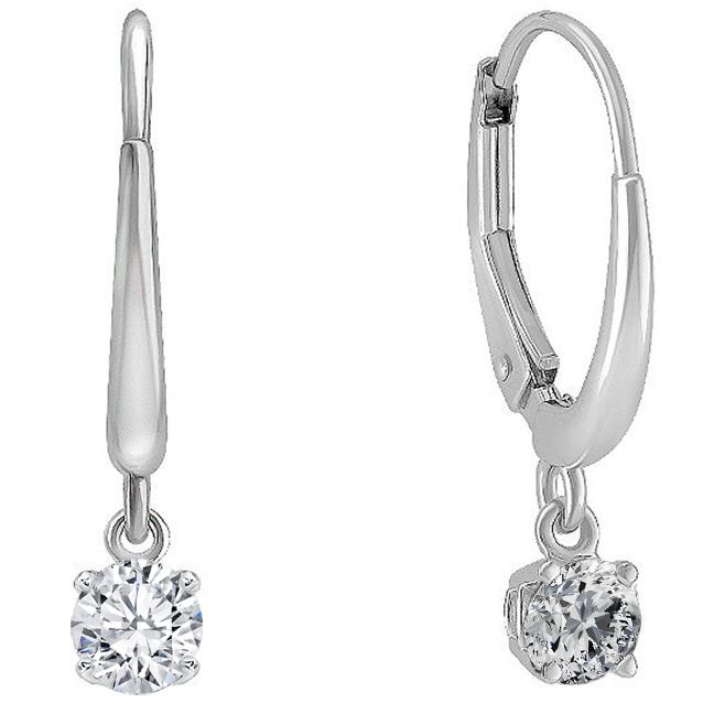Dangling Diamond Stud Earrings 1 3 Carat Tw In 14k White Gold