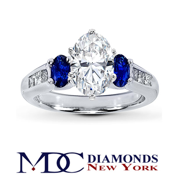 Wedding Rings With Blue 17 Spectacular