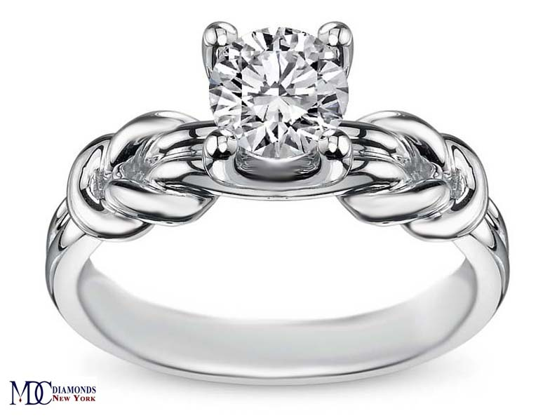 engagement ring double love knot solitaire engagement