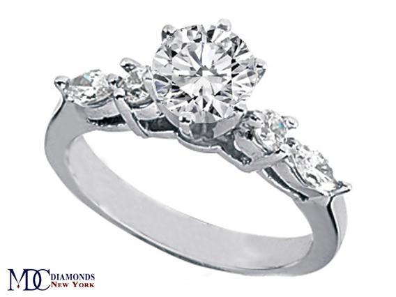 Engagement Ring Diamond Engagement Ring Marquise & Round Diamonds side s