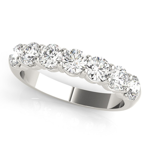 Round Diamond Wedding Band 1.4 Ct Platinum