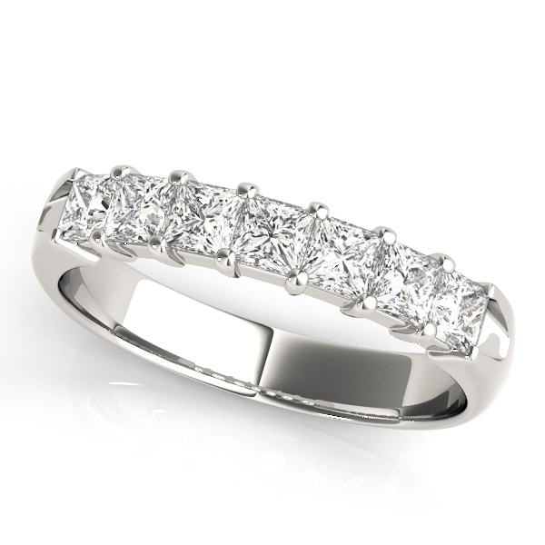 Fourteen Princess Diamond Wedding Band 0.56 Ct