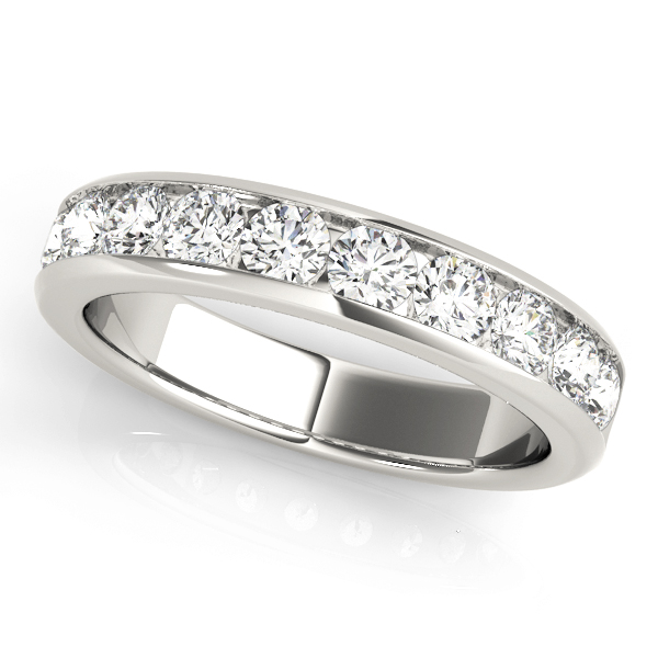 Channel Diamond Wedding Band 2.1 Ct Platinum