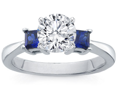 Princess-Cut Sapphire Engagement Ring